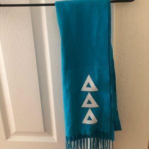 Tri Delta (Delta Delta Delta) Blue Cashmere Scarf